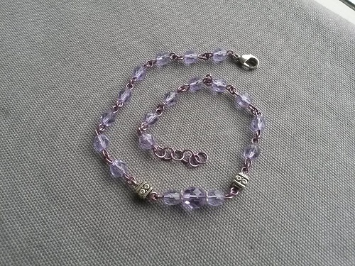 Alexandrite colored anklet