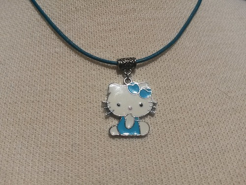 Blue Hello Kitty necklace